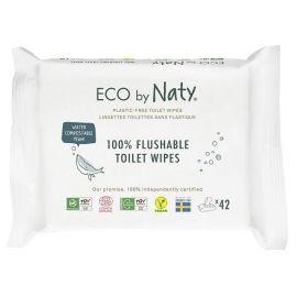 ECO vlhčené splachovatelné ubrousky s funkcí toaletního papíru bez vůně Naty 42 ks