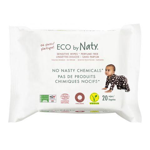 ECO vlhčené ubrousky bez vůně - pro citlivou pokožku Naty 20 ks