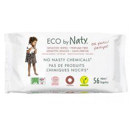 ECO vlhčené ubrousky bez vůně - pro citlivou pokožku Naty 56 ks