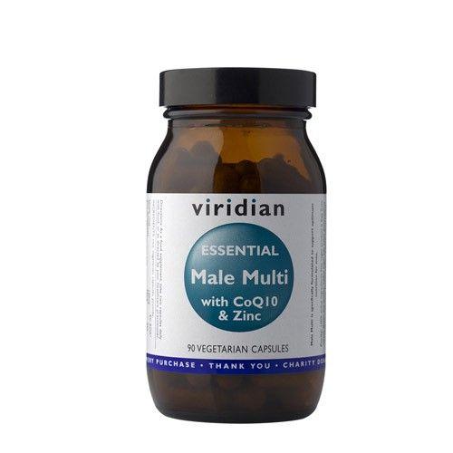 Viridian Essential Male Multi with CoQ10 a Zinc (Natural komplex pro muže) 90 kapslí