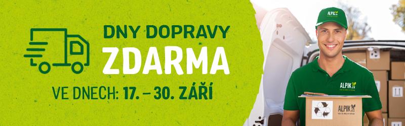 Využijte dny dopravy zdarma na Alpik.cz !!