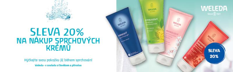 Weleda -sleva 20% na sprchové krémy