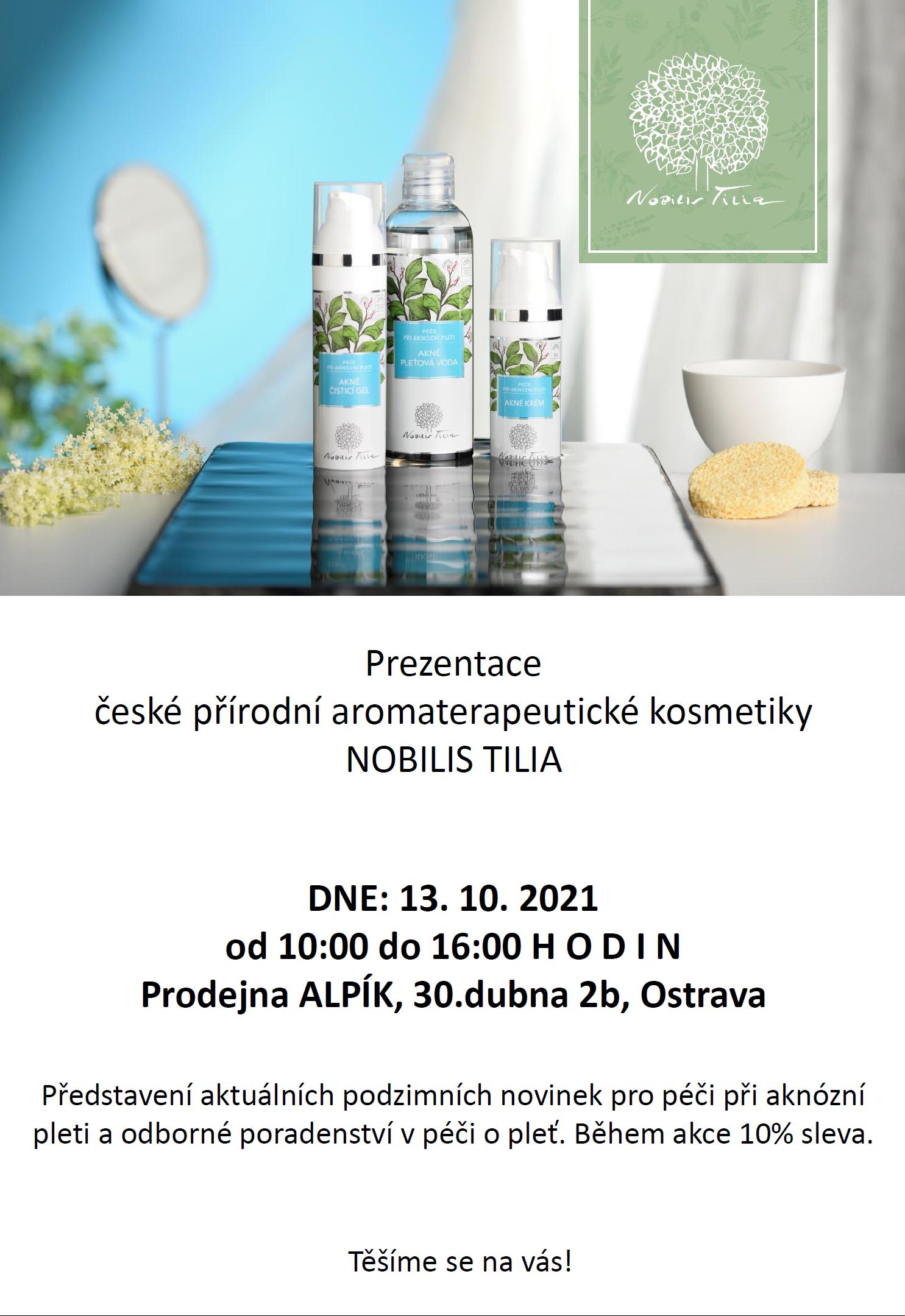 Pozvánka - Akce s Nobils Tilia v Alpik.cz