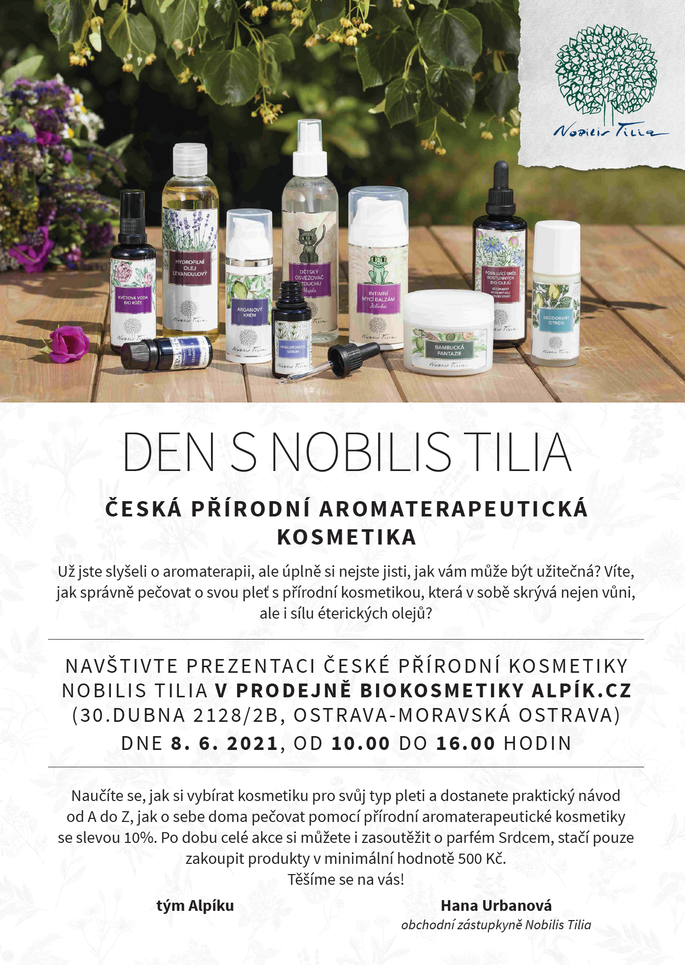 Pozvánka na Den s Nobilis Tilia v Alpik.cz 8.6.