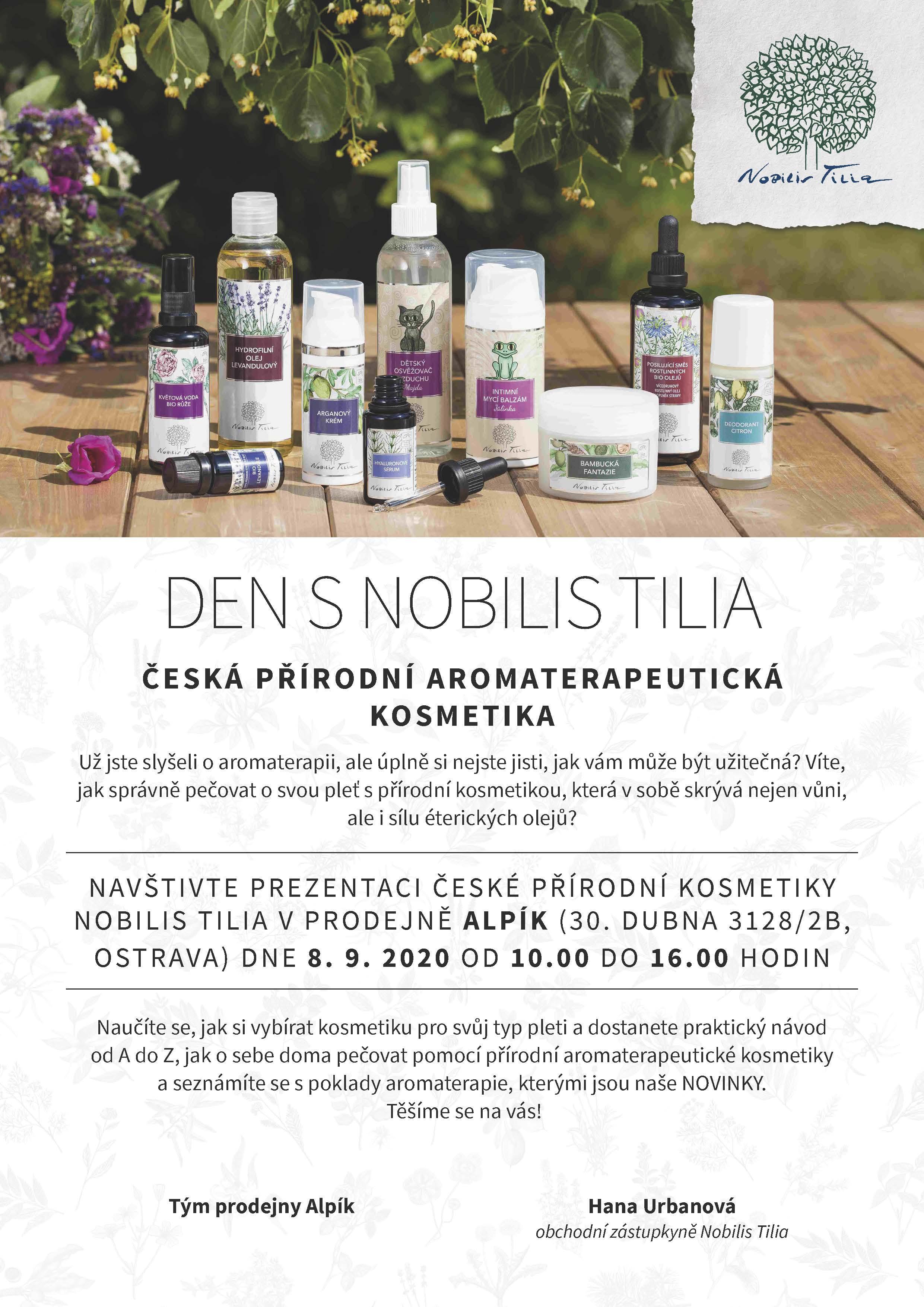 Pozvánka na den s Nobilis Tilia v Alpíku - 8.9.