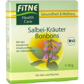 Fitne Bio Rostlinné bonbony Šalvěj 50 g