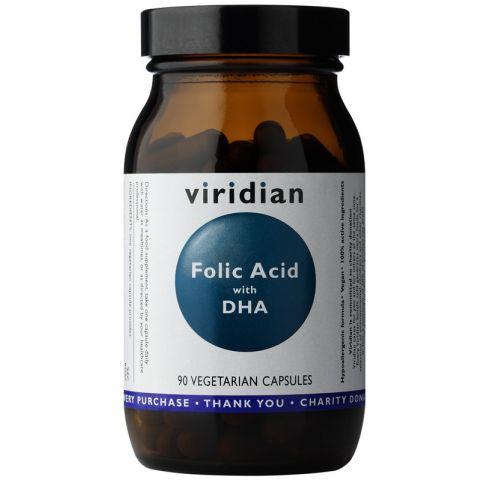Folic Acid with DHA 90 kapslí Viridian