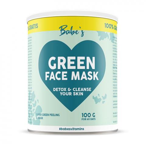Green Face Mask (Pleťová maska) Babe's 50g + 50g Zdarma