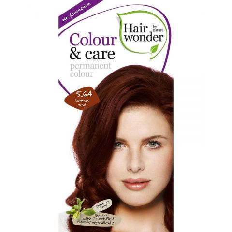 Barva ČERVENÁ HENNA 5.64 přírodní dlouhotrvající BIO Hairwonder
