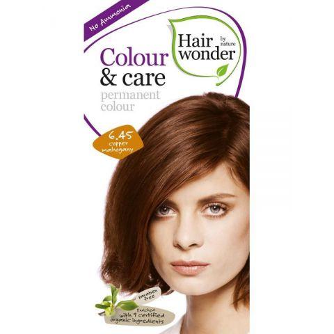 Barva MĚDĚNÝ  MAHAGON  6.45 přírodní dlouhotrvající BIO Hairwonder
