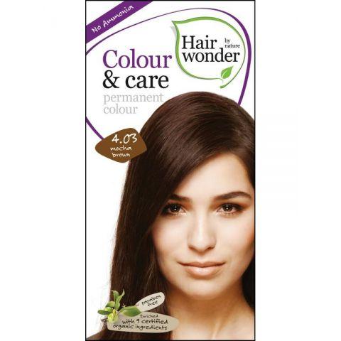 Barva MOCCA  HNĚDÁ  4.03 přírodní dlouhotrvající BIO Hairwonder