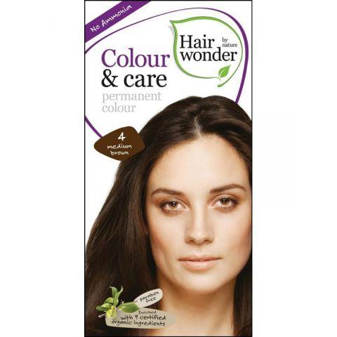 Barva STŘEDNĚ HNĚDÁ 4 přírodní dlouhotrvající BIO Hairwonder