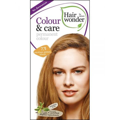 Barva STŘEDNĚ ZLATÁ BLOND 7.3 přírodní dlouhotrvající BIO Hairwonder