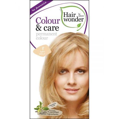 Barva SVĚTLÁ  BLOND 8 přírodní dlouhotrvající BIO Hairwonder