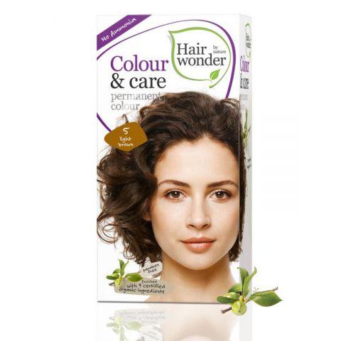 Barva SVĚTLÁ  HNĚDÁ 5 přírodní dlouhotrvající BIO Hairwonder