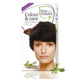 Barva TMAVÁ HNĚDÁ 3 přírodní dlouhotrvající BIO Hairwonder