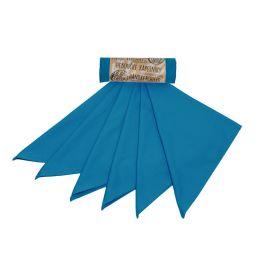 Heboučké kapesníky z biobavlněného saténu pánské – tealová modrá (36×36 cm) Tierra Verde 6 ks