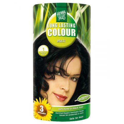 Dlouhotrvající barva Černá 1 HennaPlus 100 ml