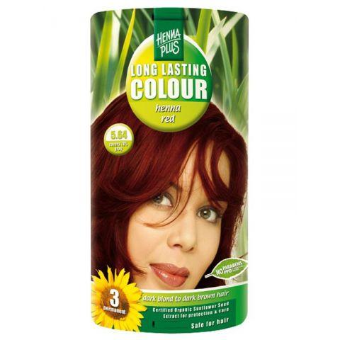 Dlouhotrvající barva Červená henna 5.64 HennaPlus 100 ml