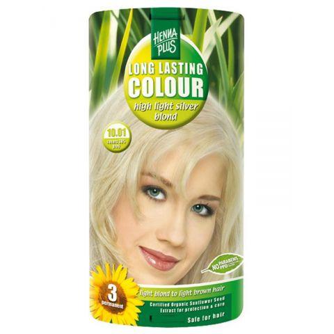 Dlouhotrvající barva Extra stříbrná blond 10.01 HennaPlus 100 ml