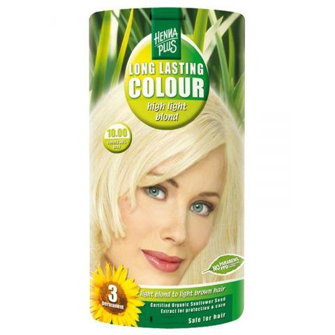 Dlouhotrvající barva Extra světlá blond 10.00 HennaPlus 100 ml