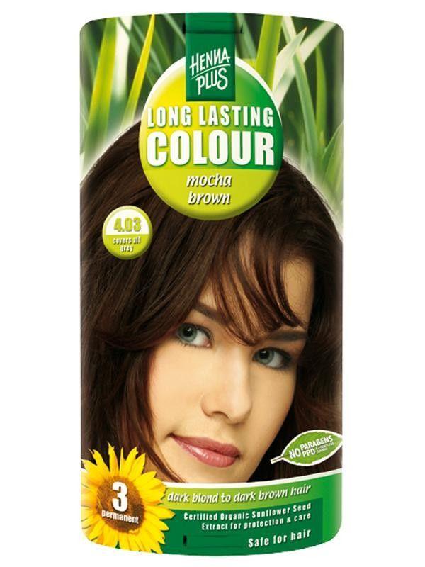 HennaPlus Dlouhotrvající barva Mocca hnědá 4.03 100 ml
