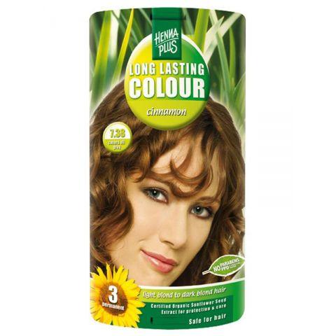 Dlouhotrvající barva Skořicová 7.38 HennaPlus 100 ml