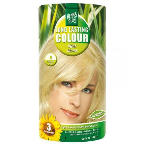 Dlouhotrvající barva Světlá blond 8 HennaPlus 100 ml
