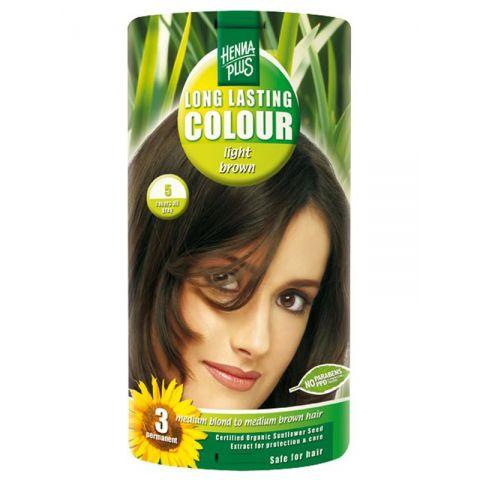 Dlouhotrvající barva Světle hnědá 5 HennaPlus 100 ml