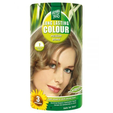 Dlouhotrvající barva Sytá blond 7 HennaPlus 100 ml