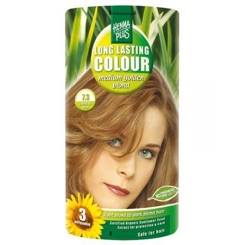 Dlouhotrvající barva Sytě zlatá blond 7.3 HennaPlus 100 ml