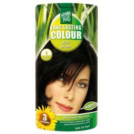 Dlouhotrvající barva Tmavě hnědá 3 HennaPlus 100 ml