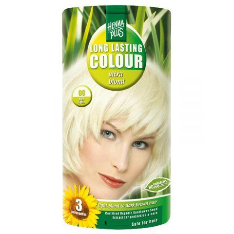 Dlouhotrvající barva zesvětlující Ultra blond 00 HennaPlus 100 ml
