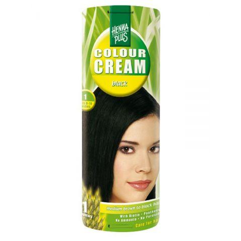 Krémová barva Černá 1 HennaPlus 60 ml