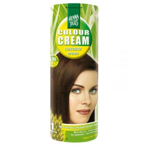 Krémová barva Čokoládová 5.35 HennaPlus 60 ml