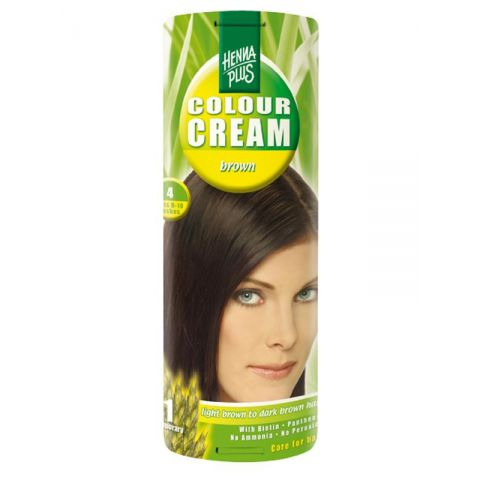 Krémová barva Hnědá 4 HennaPlus 60 ml
