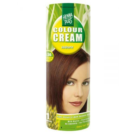 Krémová barva Kaštanová 4.56 HennaPlus 60 ml