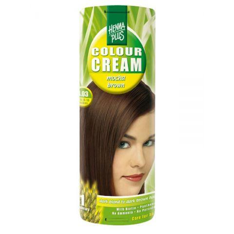 Krémová barva Mocca hnědá 4.03 HennaPlus 60 ml