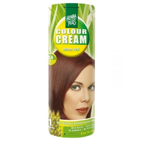 Krémová barva Tmavě červená 5.6 HennaPlus 60 ml