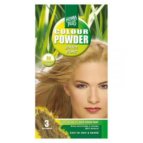 Prášková barva Zlatá blond 50 HennaPlus 100 g