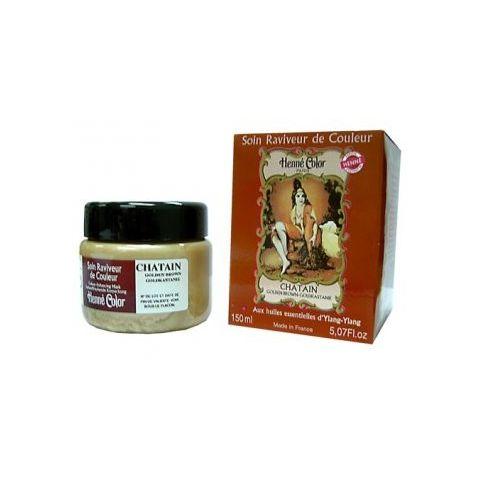 Tónovací výživná vlasová maska Kaštan Henné Color 150 ml