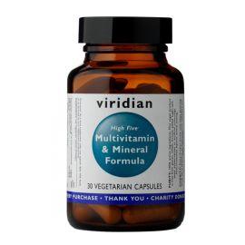 High Five Multivitamin & Mineral Formula (Natural multivitamín pro každý den) 30 kapslí Viridian