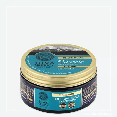 Husté tuvinské tělové a vlasové mýdlo – Černý kořen Tuva Siberica 300ml
