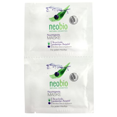 Hydratační maska Bio Aloe Vera & Acai Neobio 2 x 7,5 ml