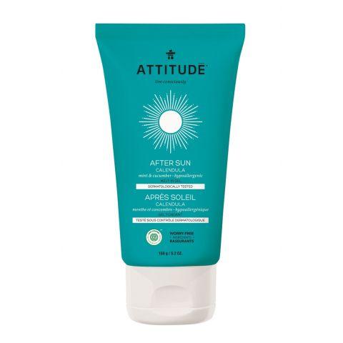 Hydratační měsíčkový gel po opalování s vůní máty a okurky Attitude 150g