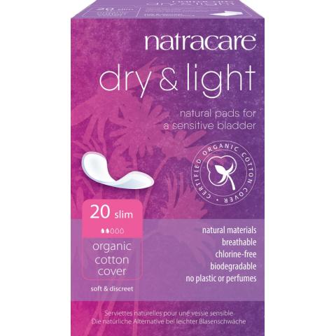 Inkontinenční vložky Dry Light Natracare  20 ks