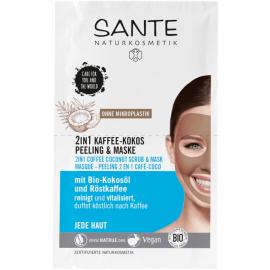 Kávovo-Kokosový peeling & Maska Sante 2 x 4 ml