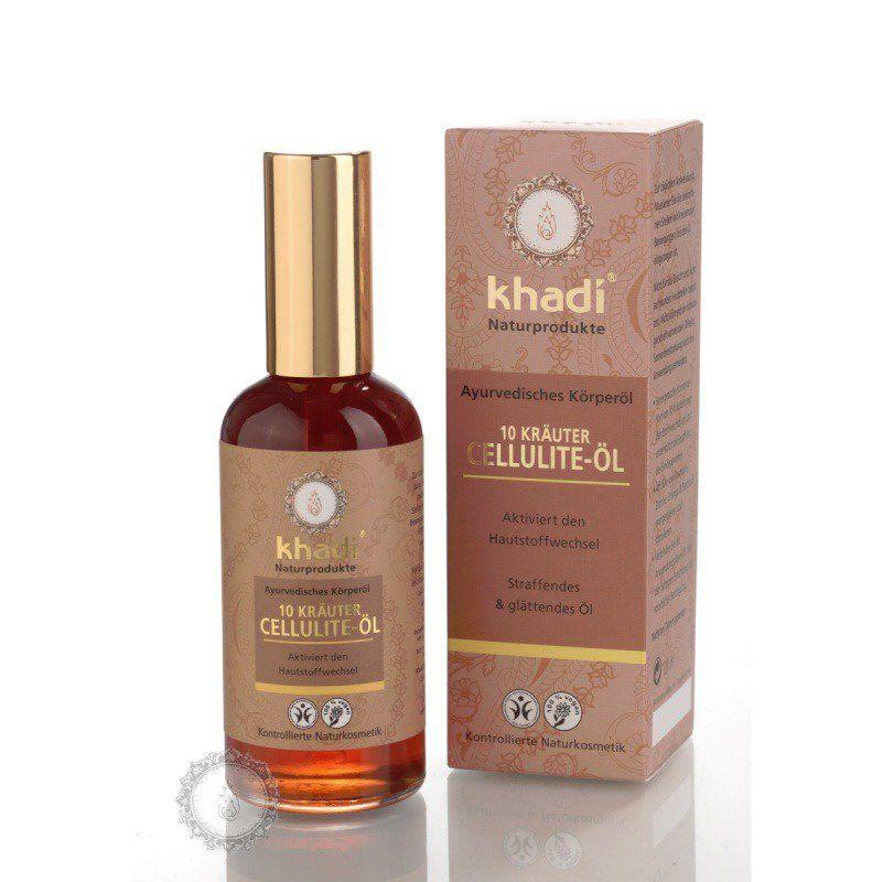 Khadi olej z 10 ajurvédských bylin proti celulitidě 100 ml