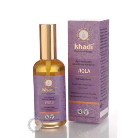 Khadi pleťový a tělový olej FIALKA 100ml
