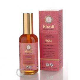 Khadi pleťový a tělový olej RŮŽE 100ml